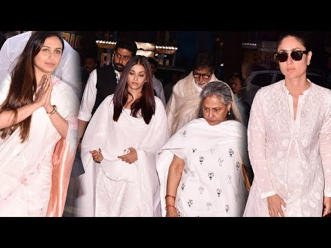 Rani Mukerji's Father Prayer Meet Full HD: Aishwarya Rai, Kareena Kapoor, Ranveer And Others