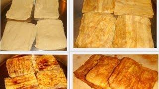 1 ổ bánh mì loại vừa - 150g chả lụa chay - 50g bột năng -100g dừa n...