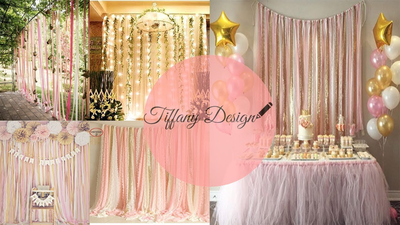 Diy cortina de cintas decoraci n de eventos youtube - Cortinas para bebes decoracion ...