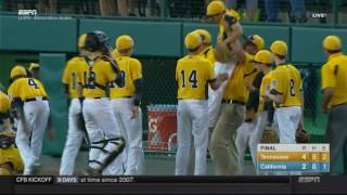#LLWS16: Game 20 Highlight - Tennessee Game Ending Double Play