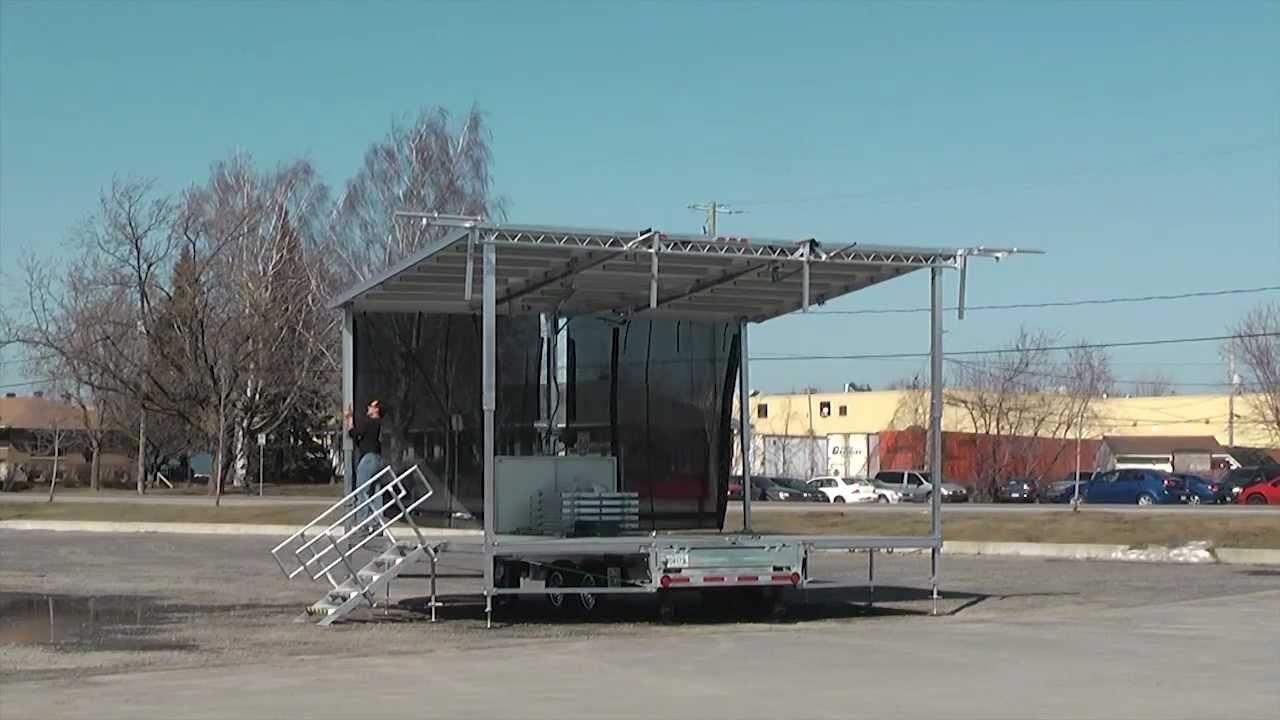 Stageline new SL50 Mobile Stage Trailer