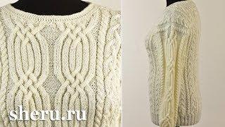 Великолепный свитер спицами. Урок 121 часть 2 из 3