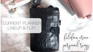 Filofax Personal Croco Planner Flip and Current Planner Lineup
