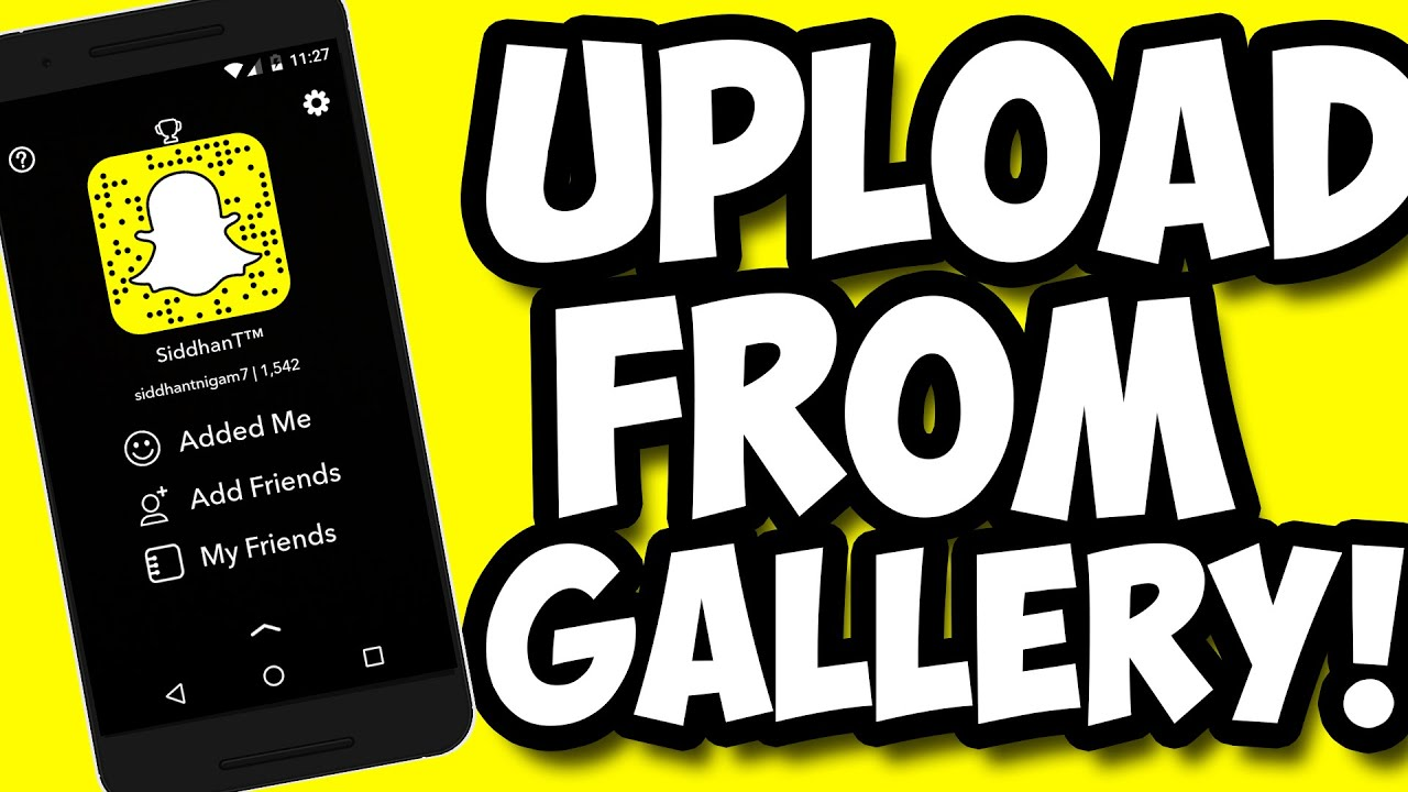 Snapchat tips tricks how to upload snaps from camera roll gallery snapchat tips tricks how to upload snaps from camera roll gallery without any app 2016 youtube ccuart Image collections