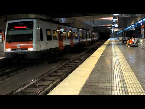 Ferrocarriles de la Generalitat de Catalunya - 213.18 saliendo de Europa / Fira