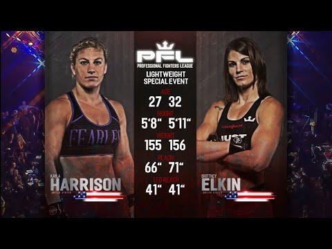 Kayla Harrison Vs Brittney Elkin Full Fight   PFL 2 2018