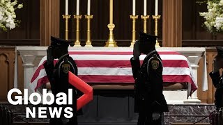George H.W. Bush lies in repose at Houston church