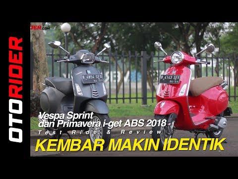 Vespa Sprint Dan Primavera I-get ABS 2018 Test Ride Review | OtoRider
