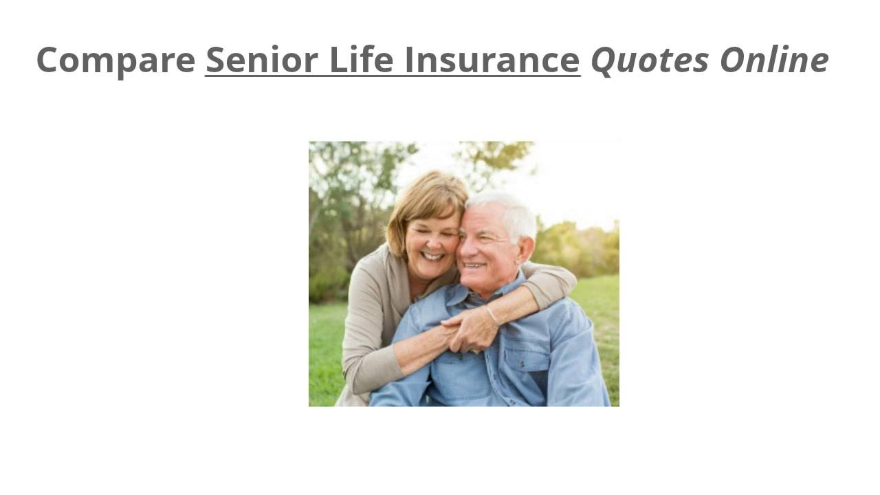 Senior Life Insurance Quote Impressive Compare Senior Life Insurance Quotes Online For Free  Youtube