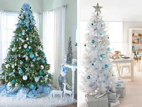 Decoracion de navidad arbol blanco youtube - Arbol navideno blanco decorado ...