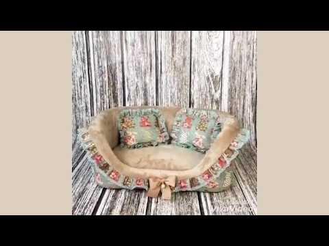 """1784 DB Лежанка диван """"Зайцы"""" голубой"""