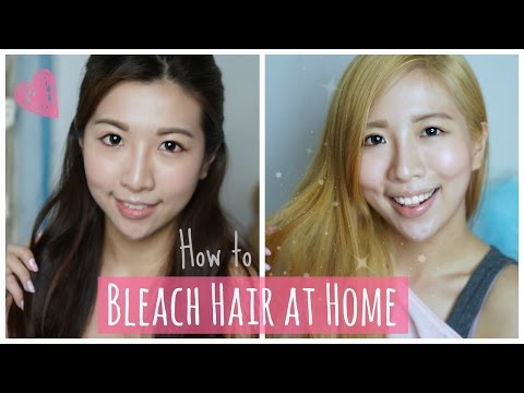 How to Bleach Hair at Home ⎜Asian Dark Hair to Blonde D.I.Y. ❤︎ Peachy Bunny Beauty