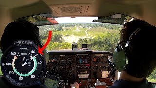Bush Pilot Technique Cessna 172 Landing on Short Field