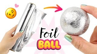 SAFE & EASY Japanese Foil Ball DIY!! NO Hammer, NO Sandpaper! How To Make Foil Ball Viral DIY