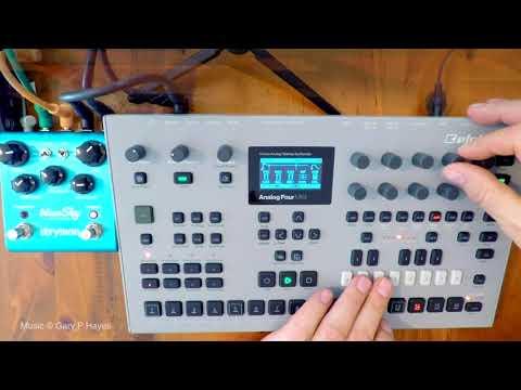 ANALOG 4 TUTORIAL 1  - ambient 'simplicity' #Elektron Analog Four MkII - No Talking #BlueSky Strymon