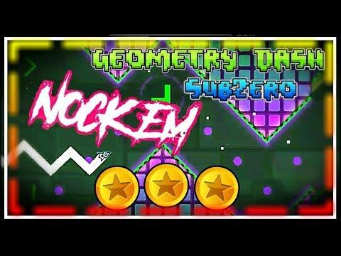 Geometry Dash Subzero Nock Em 100% all coins