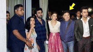 OMG ! Alia Bhat Visits Ranbir's House to Meet his Parents Rishi Kapoor and Nitu Singh
