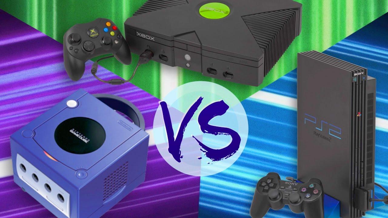 playstation 2 vs gamecube vs xbox youtube
