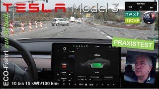 Tesla Model 3: ECO-Fahrt und mein Fazit | nextmove