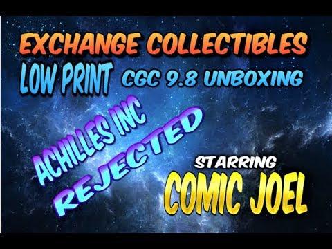 "LOW PRINT CGC 9.8 UNBOXING ""EXCHANGE COLLECTIBLES"" STARRING COMIC JOEL - COMIC BOOKS"