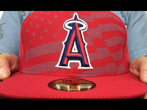 hot sale online ea910 f9459 Angels  2015 JULY 4TH STARS N STRIPES  Hat by New Era