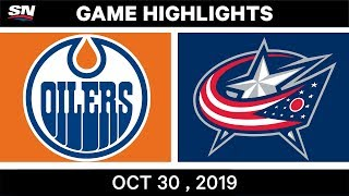 NHL Highlights   Oilers vs. Blue Jackets – Oct. 30, 2019