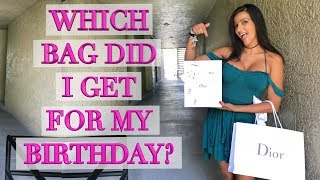 What I Got For My Birthday! Dior Bag Unboxing!