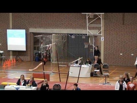 Mara turnen / gymnastics, junior (2) divisie 2, suppl. C, plaatsingswedstrijd 1, Weert 12-12-15 HD
