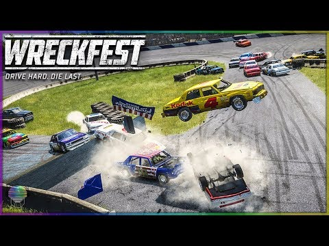 Jumping Figure 8 Madness! | Wreckfest | NASCAR Legends Mod
