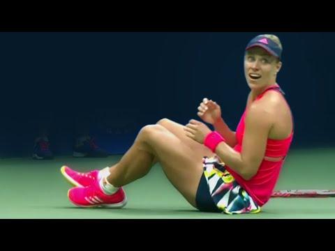 US Open 2016 - Highlights: Angelique Kerber Beats Karolina Pliskova In New York Thriller   Eurosport
