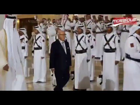 Qatar: l'Emir Tamim accueille le président de la république Béji Caid Essebsi au palais