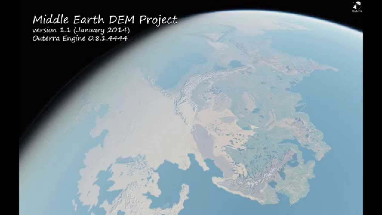 Middle Earth DEM Project with Outerra Engine YouTube – 3d Map of Middle Earth