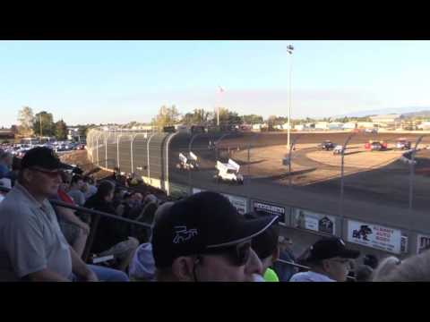 Dominic Scelzi 9-7-16 Heat Race World of Outlaws Willamette Speedway