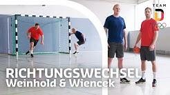 Richtungswechsel im Handball - Training mit Steffen Weinhold und Patrick Wiencek | Trainingshelden