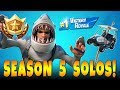 FORTNITE BATTLE ROYALE SOLO! Season 5 Battle Pass Challenges and Solo Gameplay!