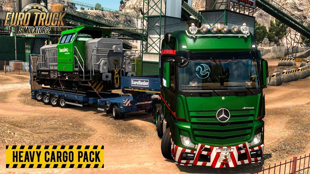 euro truck simulator 2 heavy cargo pack dlc youtube. Black Bedroom Furniture Sets. Home Design Ideas