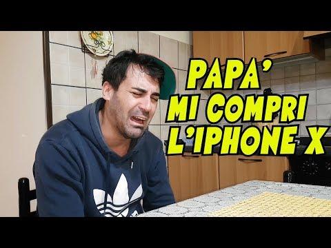 PAPà MI COMPRI L'IPHONE X ?  REAZIONE