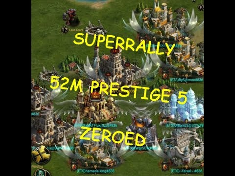 52 MILLION PRESTIGE 5 CASTLE ZEROED! 2 WEEKS AGO!  ( CLASH OF KINGS )