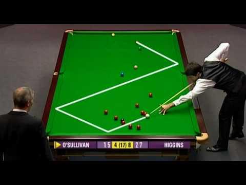UK Championship 2009 Day 8. OSullivan — Higgins. Frame 13, weird situation