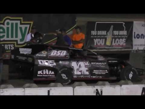 Salina Speedway SalinaUsedCars.Com IMCA Modifieds (1 lap of 1st heat, B & A Feature) 7-21-17