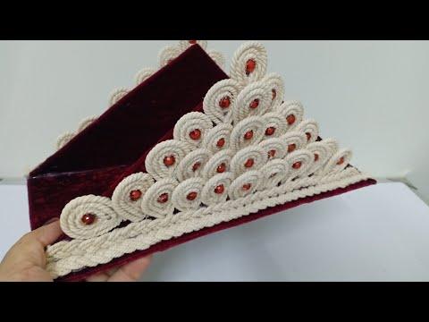 DIY Tissue Paper Holder/সুতলির তৈরী টিস্যু পেপার হোল্ডার /Napkin Holder made with Cardboard & Thread
