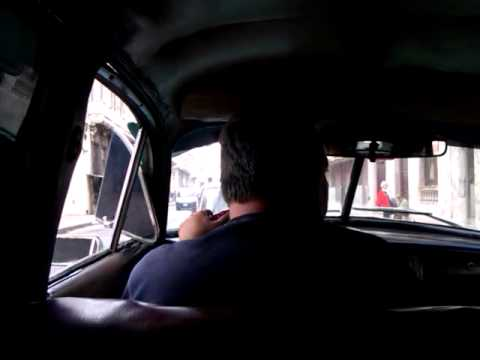 Taxi ride in old car Havana