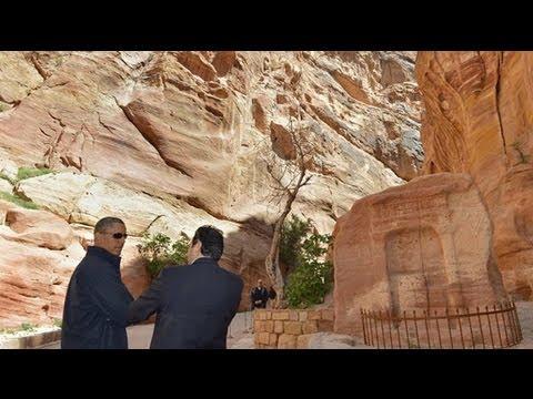 Barack Obama tours ancient city of Petra in Jordan