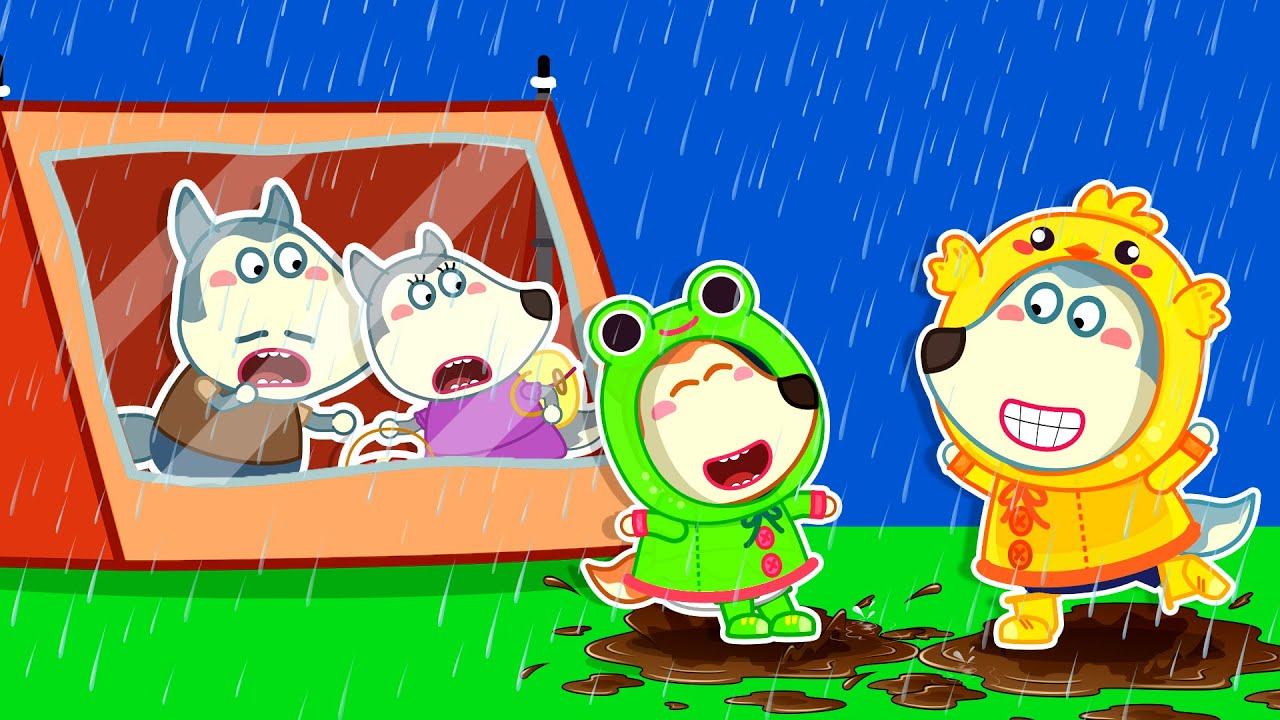 Wolf Family🌞 Yes Yes Dress For The Rain + More Funny Stories for Kids | Kids Videos