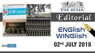 02 July, 2018 | ENGlish - WINGlish - THE HINDU EDITORIAL | English & Tamil