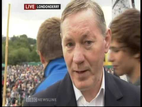 BBC Newsline (4th June 2012) Olympic Torch Relay Day 17