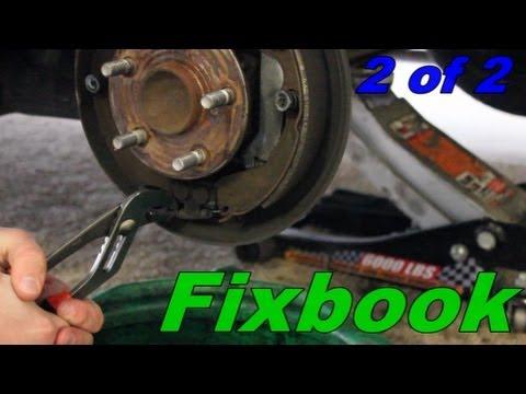 Toytota Matrix, Pontiac Vibe Rear Drum Brake Replacement - YouTube