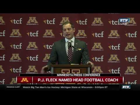 P.J. Fleck Press Conference as Gopher Head Coach