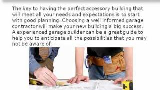 Home Owners Guide To Selecting The Best Garage Builder.