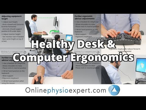 Computer ergonomics for back pain and RSI pain